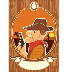 Cowboy portrait vector