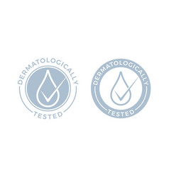 Dermatologically tested water drop icons vector