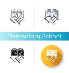 Elementary school icon vector