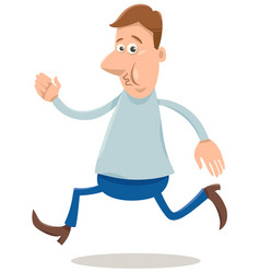 excited man cartoon vector image