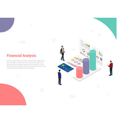 financial analysis company concept with team vector image