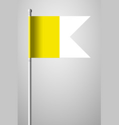 flag of vatican city national flag on flagpole vector image