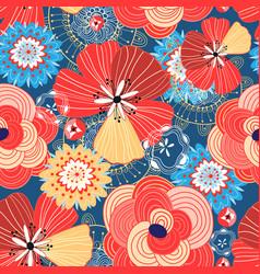 flower bright pattern vector image