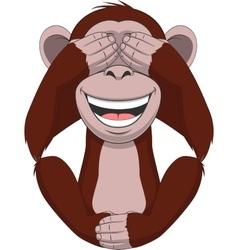 Funny little monkey vector