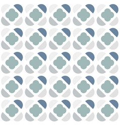geometric seamless pattern with semicircles and vector image