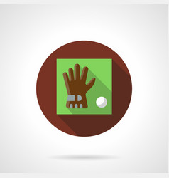 Golf accessories brown round icon vector