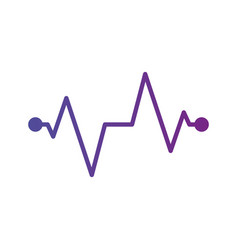 health medical heartbeat pulse with dots isolated vector image