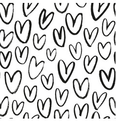 heart pattern for happy valentine day vector image