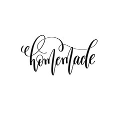 Homemade - black and white hand lettering vector