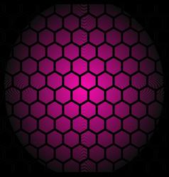 honey comb purple pattern background vector image