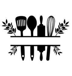 kitchen split with olives vector image