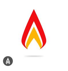 logo flame fire geometric or spear sharp logotype vector image