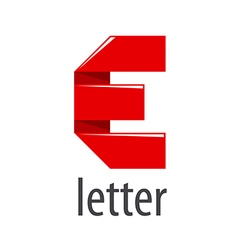 Logo red tape in the form of letter E vector