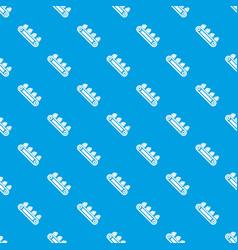 mine equipment pattern seamless blue vector image