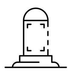 Modern lightbox icon outline style vector