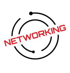 Networking typographic stamp vector