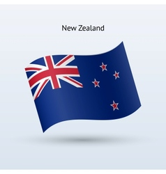 New Zealand flag waving form vector image