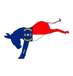north carolina democrat donkey flag vector image