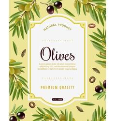 Olive Frame Background vector image