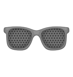 Perforating glasses icon gray monochrome style vector