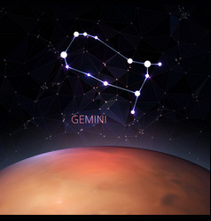 planet with a kind of the zodiac gemini vector image