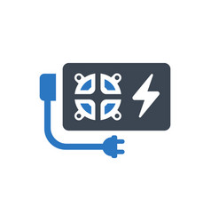 Power supply icon vector
