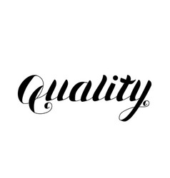 Quality - hand drawn lettering isolated vector