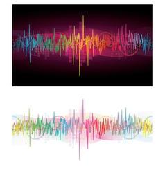 Rainbow Waves vector image