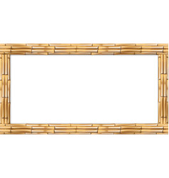 rectangle brown bamboo stems wooden border frame vector image