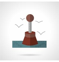 Restrictive buoy flat icon vector