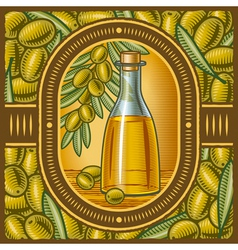 Retro olive oil vector image