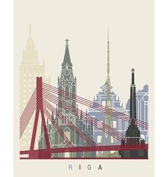 Riga skyline poster vector