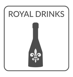 Royal Drinks ign vector image