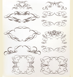 set calligraphic frames for design vector image