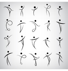 set of Abstract Human Symbols men logos vector image