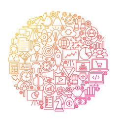 Startup line circle design vector