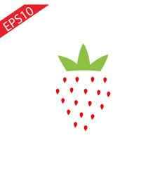 strawberry icon fresh strawberry fruit vector image
