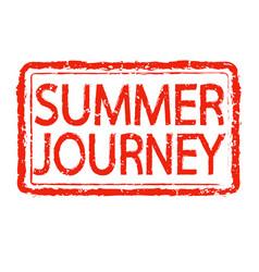 summer journey stamp text design vector image
