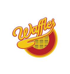waffle-logo vector image