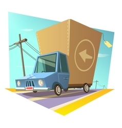 Warehouse retro concept vector