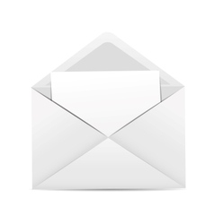 White Envelope Icon vector image