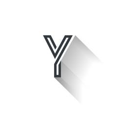 y logo vector image