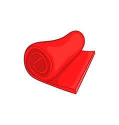 Yoga mat icon cartoon style vector