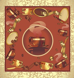 background coffee red vector image vector image
