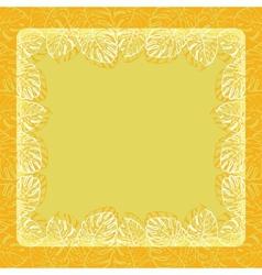 Background frame of leaves vector image