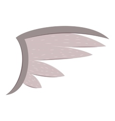 Bird wing icon cartoon style vector image