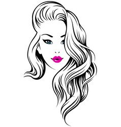 girl hairdress vector image