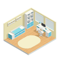 kids room composition vector image vector image