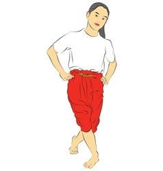 New thai dance vector image vector image