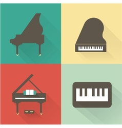 Piano icons vector image